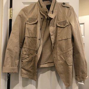 Zara studded military jacket